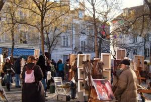 """Artists Square in Paris Montmartre"""