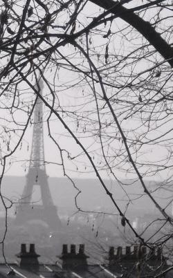 """Eiffel Tower in Paris seen from Montmartre"""