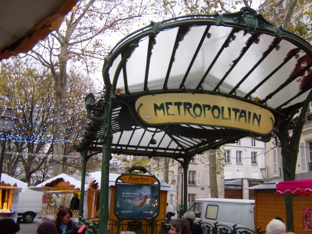 """Metro Station Abbesses in Paris Montmartr""e"
