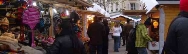 Christmas Market In Montmartre