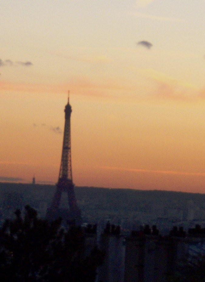 """""""Eiffel Tower seen from Montmartre Paris"""""""