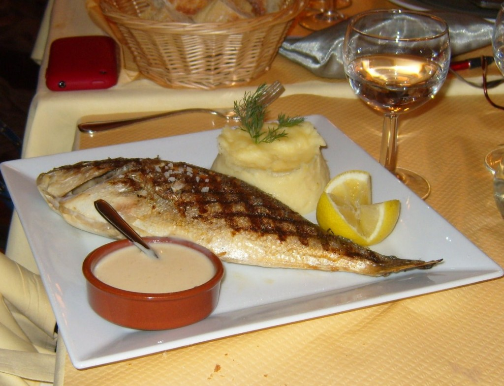 """Fish dish at le Petit Bofinger"""