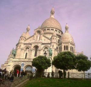 """Basilica of Sacre Coeur in Montmartre Paris"""