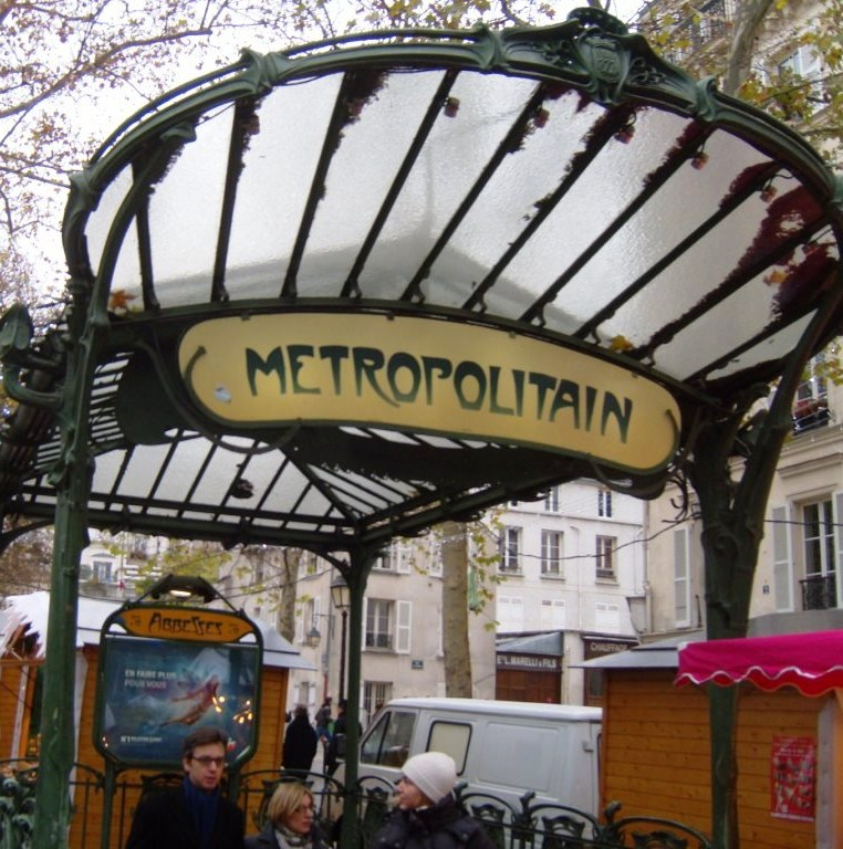 """Metro Abbesses in Montmartre Paris"""