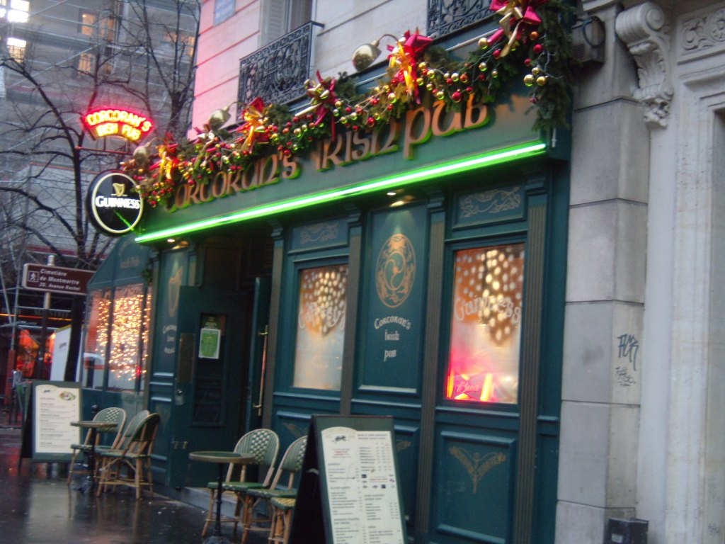 """Corcorans Irish bar in Place Clichy, Montmartre Paris"""