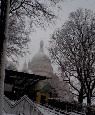 """""""Sacre Coeur in snow"""""""