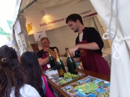 """Drinking wine in Montmartre Fete des Vendanges"""
