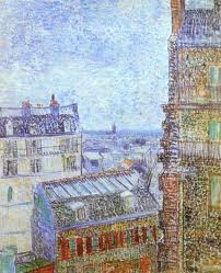 Van Gogh's painting of view from rue Lepic flat