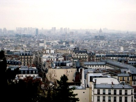 """Panoramic view of Paris from Montmartre"""