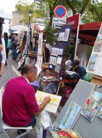 """Artists at the Place de Tertre in Montmartre Paris"""