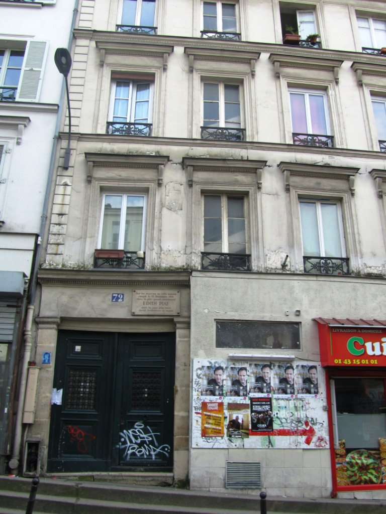 """Edith Piaf's birthplace - gutters of Belleville"""