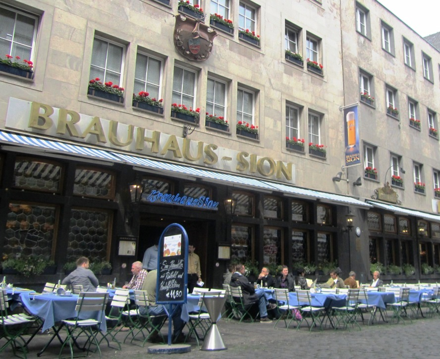 """""""Brauhaus Sion brewery restaurant in Cologne Germany Paris day trip destination"""""""