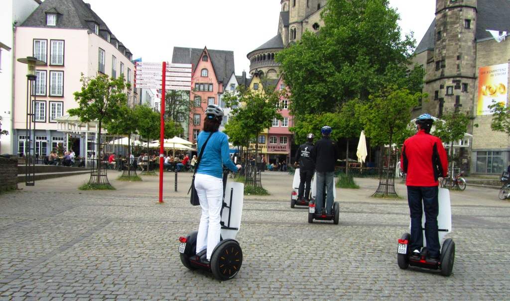 seein koln on a segway. Black Bedroom Furniture Sets. Home Design Ideas