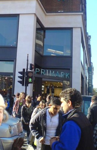 """Budget store Primark in Oxford Street London"""