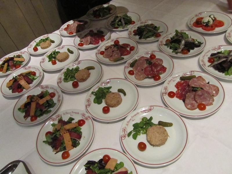 """""""Selection of Entrees at ParisParis soiree at La Bonne Franquette Montmartre"""""""