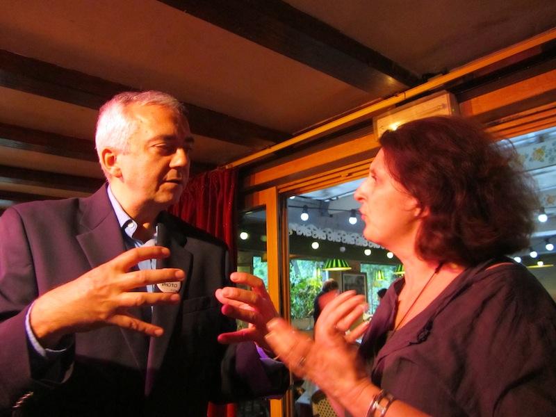 """""""Helene at ParisParis bloggers night La Bonne Franquette Paris"""""""