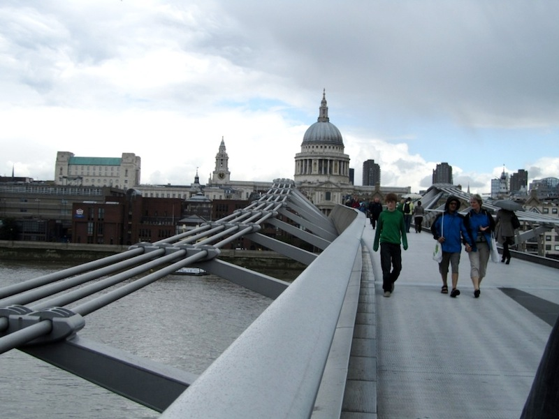 """""""St Paul's Cathedral seen from Millennium bridge in London"""""""