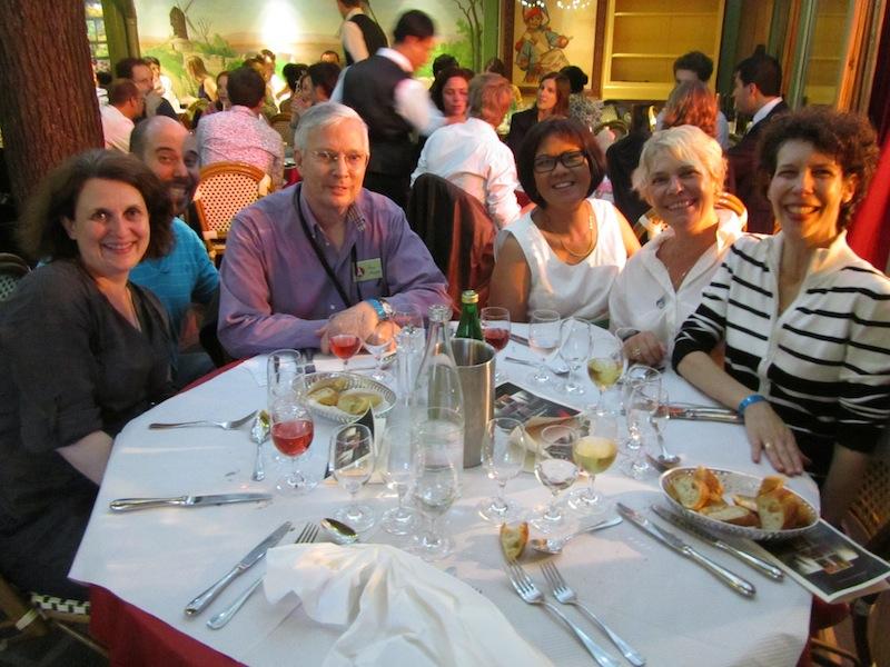 """""""Our table group photo La Bonne Franquette soiree Montmartre Paris"""""""