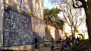 Where is the Wall of Love in Montmartre?