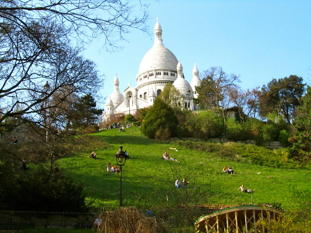 """""Springtime on the hills of Sacre Coeur Montmartre"""""